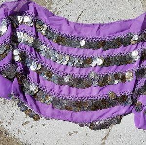 Accessories - Belly Dancing Hip Scarf Purple NWOT